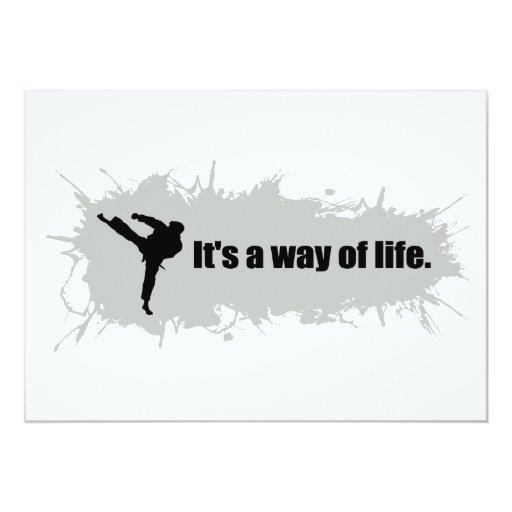 """El karate es una manera de vida invitación 5"""" x 7"""""""