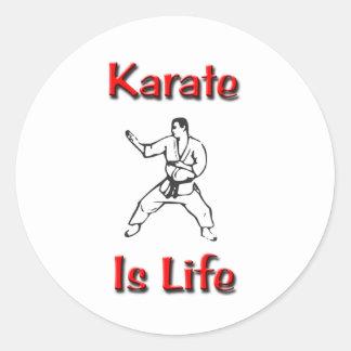 El karate es vida etiqueta