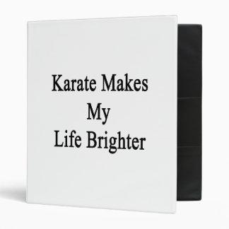 El karate hace mi vida más brillante