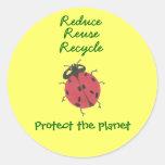 """El karate Kat """"protege pegatina del planeta"""""""