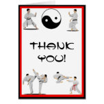 El karate le agradece tarjeta de nota