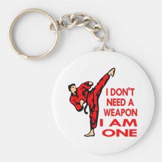 El karate, Muttahida Majlis-E-Amal, SOY un arma Llavero Redondo Tipo Pin