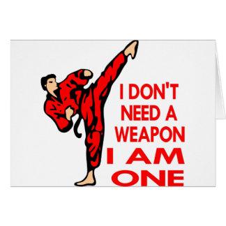 El karate, Muttahida Majlis-E-Amal, SOY un arma Tarjeton