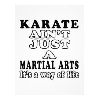 El karate no es apenas los artes marciales plantilla de membrete