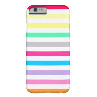 el kate del arco iris del caramelo rayó la caja funda para iPhone 6 barely there