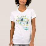 el kawaii es camiseta de la mujer de la diversión