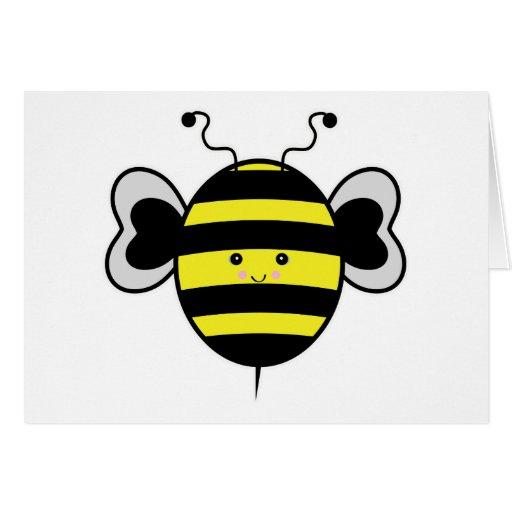 el kawaii lindo manosea la abeja tarjetas