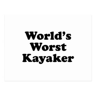 El Kayaker peor del mundo Tarjetas Postales