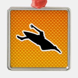 El Kayaking amarillo-naranja Adornos