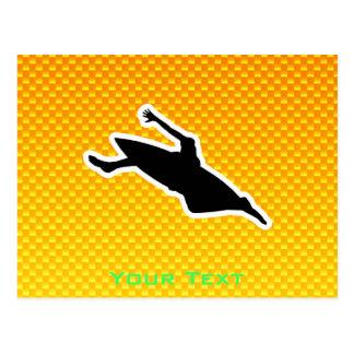 El Kayaking amarillo-naranja Postal