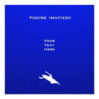 El Kayaking azul Invitación 13,3 Cm X 13,3cm