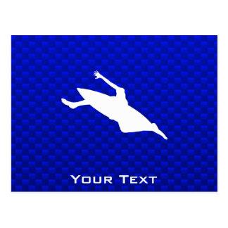 El Kayaking azul Tarjeta Postal