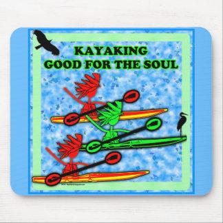 El Kayaking bueno para el alma Alfombrilla De Raton