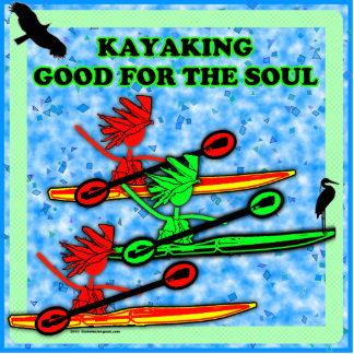 El Kayaking bueno para el alma Fotoescultura Vertical