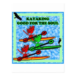 El Kayaking bueno para el alma Postal