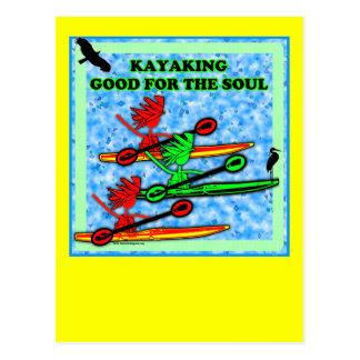 El Kayaking bueno para el alma Tarjeta Postal