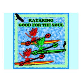 El Kayaking bueno para el alma Tarjetas Postales