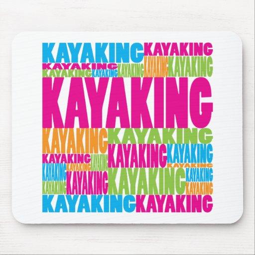 El Kayaking colorido Alfombrillas De Raton