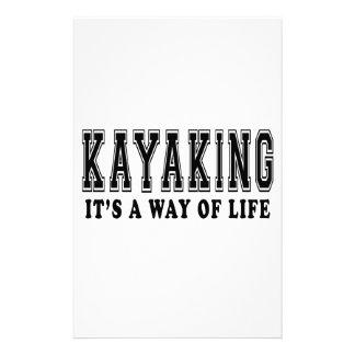 El Kayaking él es manera de vida Papelería