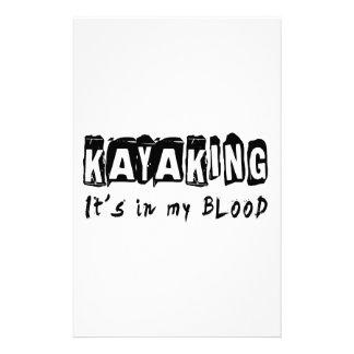 El Kayaking él está en mi sangre Papeleria De Diseño