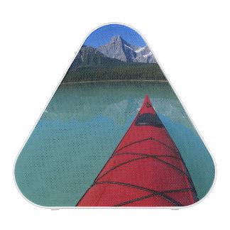 El Kayaking en el lago waterfowl debajo del pico d Altavoz Bluetooth