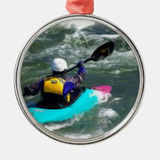 El Kayaking en el río Ornamento Para Arbol De Navidad