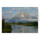 El Kayaking en la tarjeta magnífica de Teton
