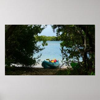 El Kayaking en las Islas Vírgenes de St Thomas los Póster