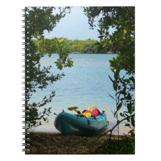 El Kayaking en las Islas Vírgenes de St Thomas los Spiral Notebook