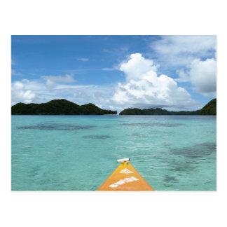 El Kayaking en paraíso Tarjeta Postal
