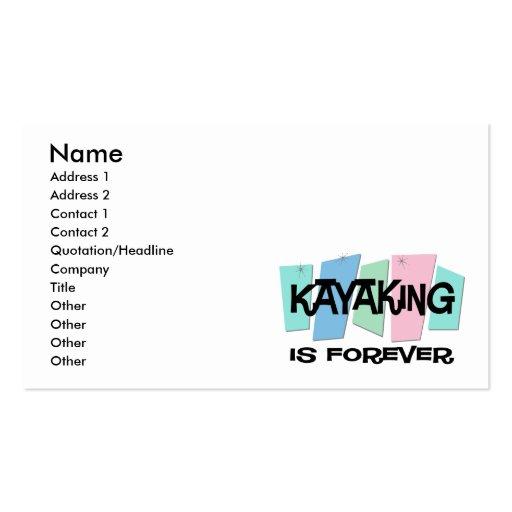 El Kayaking es Forever Tarjetas Personales