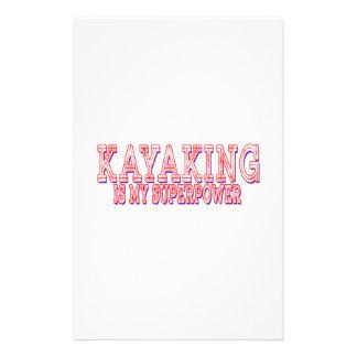 El Kayaking es mi superpotencia Papeleria De Diseño
