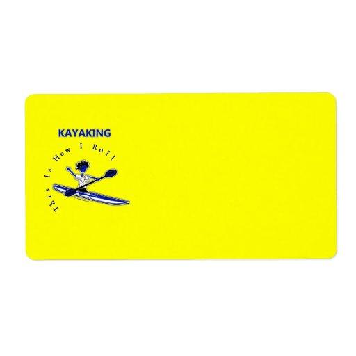 El Kayaking esto es cómo ruedo Etiqueta De Envío