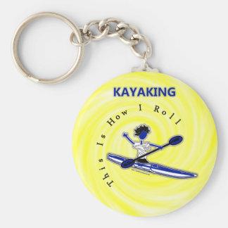 El Kayaking esto es cómo ruedo Llavero Personalizado