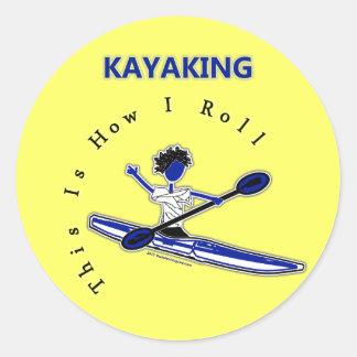 El Kayaking esto es cómo ruedo Pegatinas Redondas