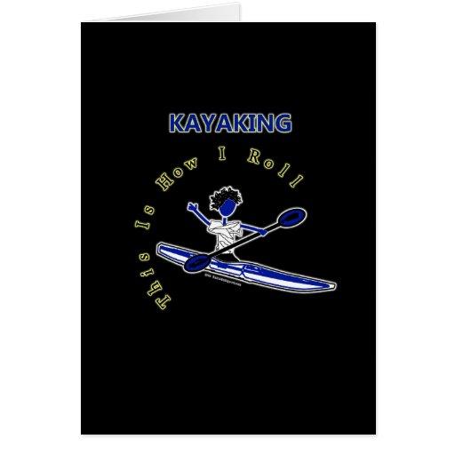 El Kayaking esto es cómo ruedo Tarjetón