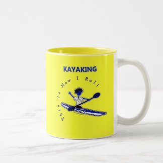 El Kayaking esto es cómo ruedo Taza De Dos Tonos
