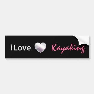 El Kayaking lindo Pegatina Para Auto