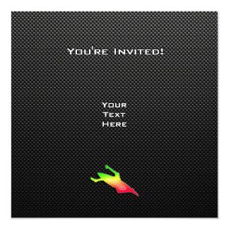 El Kayaking liso Invitación 13,3 Cm X 13,3cm