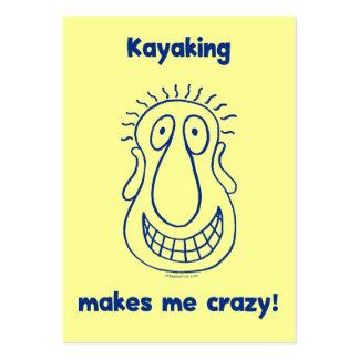 El Kayaking me conduce loco Tarjetas De Negocios