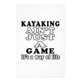 El Kayaking no es apenas un juego que es una maner Papeleria Personalizada