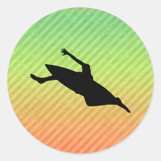 El Kayaking Etiqueta Redonda