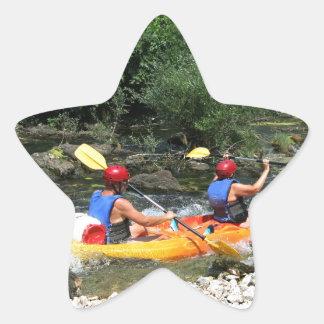 El Kayaking Pegatina En Forma De Estrella
