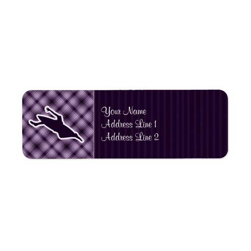 El Kayaking púrpura Etiqueta De Remite