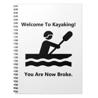 El Kayaking se rompió Note Book
