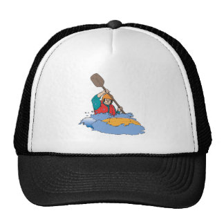 el kayaking transportando el gráfico en balsa gorras