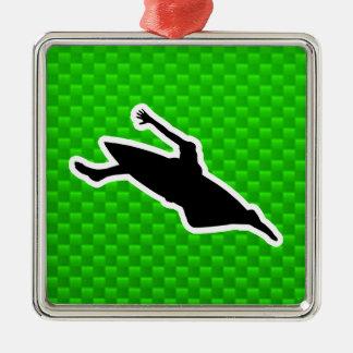 El Kayaking verde Adornos