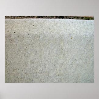 El kerbing concreto póster