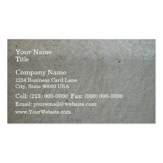 El kerbing concreto plantilla de tarjeta personal