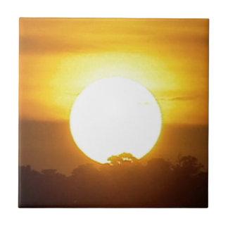 el kground añade la puesta del sol CONOCIDA de la Azulejo Cuadrado Pequeño